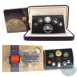 2002 Canada Gold Plated Jubilee & 2003 Coronation 1953-2003 Double Dollar Proof Sets (5-cent coin in