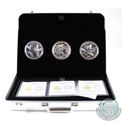 2017 $20 Canada Aircraft of WWII 3-Coin Set in Deluxe Case (the Hawker Hurricane coin is lightly ton