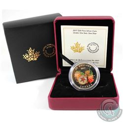 2017 Canada $20 Under the Sea - Sea Star Fine Silver Coin (coin is lightly toned & sleeve unglued on