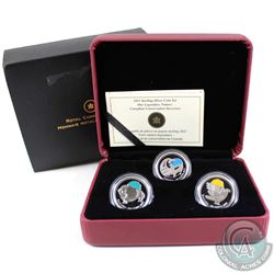 2011 Canada 25-cent Parks Canada - Our Legendary Nature 3-coin Sterling Silver Set (the Falcon capsu
