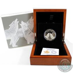 2017 Canada $20 Master of the Land - The Timber Wolf Fine Silver Coin (capsule lightly scratched). T