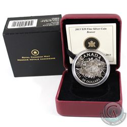 2013 Canada $20 The Beaver Fine Silver Coin (capsule lightly scratched). Tax Exempt