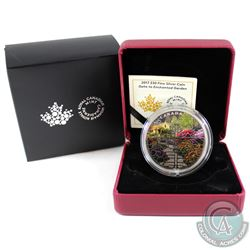 2017 Canada $30 Gate to Enchanted Garden Fine Silver Coin (outer sleeve is coming unglued on one sid