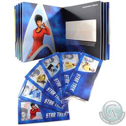 New Zealand Mint Issue: 2018 Niue $1 Star Trek All 6x Different 5 gram .999 Fine Silver Cards with C