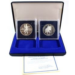 Valcambi Mint Issue: 1980 Republic of Panama 5 & 10 Balboa Proof Coin Set. Please note coins have li