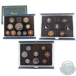 Royal Mint Issue: 1983, 1988 & 1998 United Kingdom Proof Coin Collections in Original Hard Blue Fold