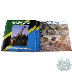 Royal Mint Issue: 1979-1998 Tanzania Circulation 11-Coin Collection in Colourful Folder and Sleeve.
