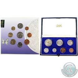 South African Mint Issue: 1967 7-coin Mint Set in Original Blue Display Box & 1999 9-coin Uncirculat