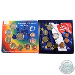 World Mint Issue: 2009 Spanish Mint 9-coin Euro Coin Set & 2009 Slovakian Mint 9-coin Euro Coin Set