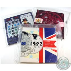 Royal Mint Issue: 1992, 1993 & 1994 United Kingdom Brilliant Uncirculated Coin Collections Sealed in