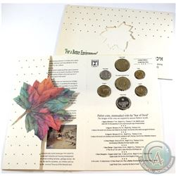 "Israel Mint Issue: 1994 ""For a Better Environment"" 7-coin Official Piefort Mint set."