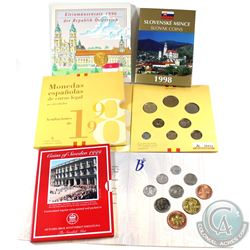 World Mint Issue: 1996 Austria 6-coin, 1998 Slovakia 8-coin, 1998 Spain 8-coin, 1999 Sweden 5-coin &