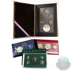 U.S. Mint Issue: Lot of USA Coin Sets. You will receive 1971 Eisenhower Uncirculated Silver Dollar,