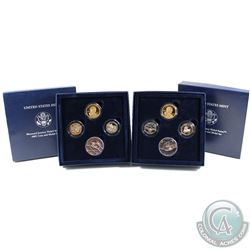 U.S. Mint Issue: 2004 & 2005 Westward Journey Nickel Series Coin and Medal Sets (some coins are tone
