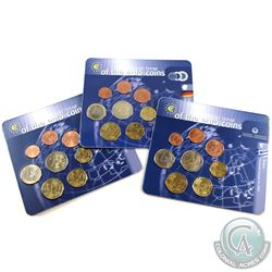 World Mint Issue: Lot of 3x First Official Issue of the Euro Coins 8-coin Sets from Greece, Germany