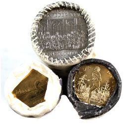 1982 Constitution Nickel, 1987 & 2005 Terry Fox Canada $1 Original Rolls. Please note one end of eac