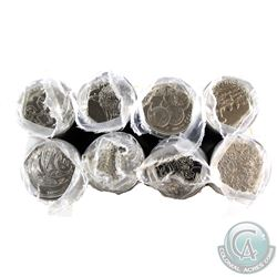 Lot of 7x 1999 & 1x 2000 Canada 25-cent Millennium Original Rolls of 25pcs. You will receive 1999 -