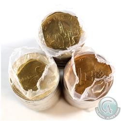 1987, 1992 Parliament & 2010 Inukshuk Loon $1 Original Rolls of 25pcs (most coins, except 1987, look
