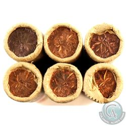 1964 Canada 1-cent Original Rolls of 50pcs (rolls have tape). 6pcs