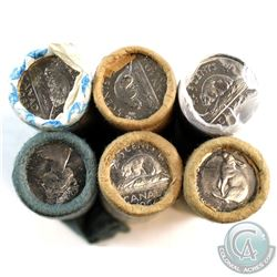 Lot of 1964-2002 Canada 5-cent Original Rolls. You will receive 1964, 1966, 1967, 1972, 1983 & 2002