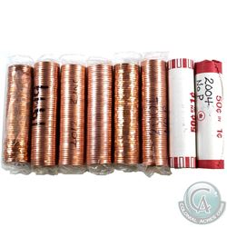 Lot of 8x 1991-2012 Canada 1-cent Original Rolls of 50pcs. You will receive 1991, 1992, 1999, 2001,