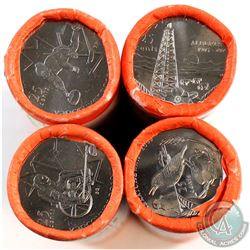 Lot of 4x 2005-2007 Canada 25-cent Original Rolls of 40pcs. You will receive 2005 Saskatchewan, 2005
