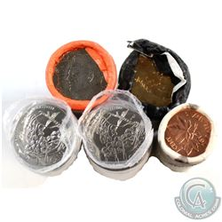 Lot of 5x Canada 1-cent, 25-cent & Loon $1 Original Rolls. You will receive 2012 1-cent Farewell Spe