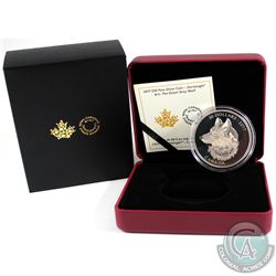 2017 Canada $30 Zentangle Art - The Great Grey Wolf 2oz Fine Silver Coin (capsule lightly scratched)