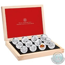 2013 Complete O Canada $10 12-Coin Set with Deluxe Box (missing outer sleeve & Beaver coin is toned)