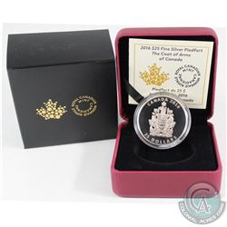 2016 Canada $25 Piedfort - Canadian Coat of Arms Fine Silver Coin (Tax Exempt)