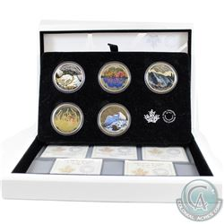 2016 Canada $20 Landscape Illusion 5-Coin Set & Deluxe Case (missing outer sleeve & coins are toned)