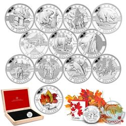 Complete 2013 'O Canada' 12-coin Set with Deluxe RCM Issue Display Case (Tax Exempt). You will recei