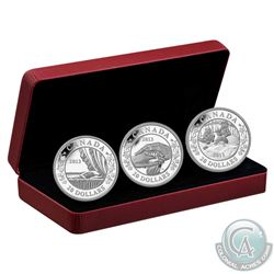 2013 Canada $20 Birth of the Royal Baby Silver 3-Coin Fine Silver Set (Tax Exempt). Light wear to ou
