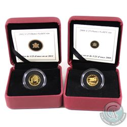 2008 Dehavilland Beaver & 2012 Cariboo Gold rush 1/25 oz. Gold coins (Tax Exempt) . Coins comes enca