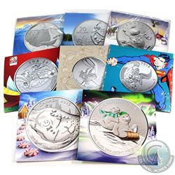 Lot of 8x 2014-2016 Canada $20 for $20 Series & $25 for $25 Fine Silver Coins. You will receive 2013