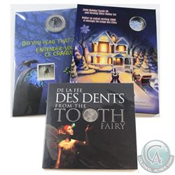 Lot of RCM issue Commemoratives: 2011 Canada 25-cent Tooth Fairy Gift Card, 2015 25-cent Brakeman -
