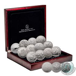 2012 Fabulous 15 World's Most Famous Silver 15-coin Set in Deluxe Wooden Display Case with COA (some