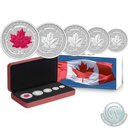 2015 Canada The Maple Leaf Fine Silver Fractional Set (No Tax). Outer packaging starting to show sig