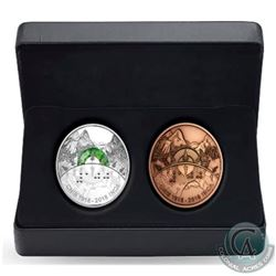 2018 Canada $30 CNIB 2-coin Set (Fine Silver coin & Bronze Medallion) - No Tax - Impaired