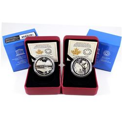 2015 Canada $20 UNESCO At Home Fine Silver Coins (Tax Exempt). You will receive the Wood Buffalo Nat