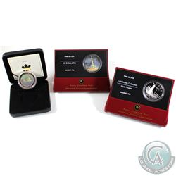 3x Canada $20 Fine Silver coins: 2006 $20 Architectural Treasures CN Tower, 2005 $20 Toronto Island