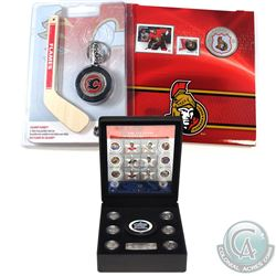 Canada NHL Coin Collection. You will receive the 2009 $1 Calgary Flames Mini-Puck & Mini-Stick Set,