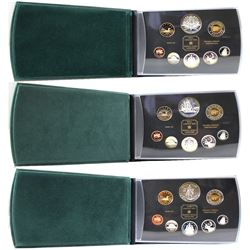 1998, 1999, & 2000 Canada Proof Double Dollar Set Collection. Please note coins contain toning and o