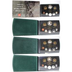 2000, 2001, 2003, & 2004 Canada Proof Double Dollar Set Collection. Please note coins contain toning