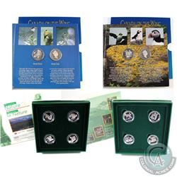 RCM Lot: 1996-1997 Canada 4-Coin Animal Sterling Silver Proof 50-cent Sets; 1995 Birds of Canada, 19