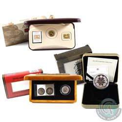 RCM Lot: 3x Canada Coins/Sets. You will receive 2001 3-Cent First Postage Stamp Anniversary Coin & S