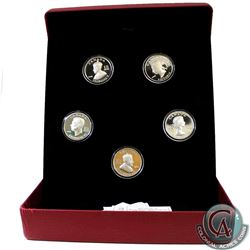 2008-2009 Vignettes of Royalty Series $15 Sterling Silver 5-Coin Set from the RCM. Set is missing th