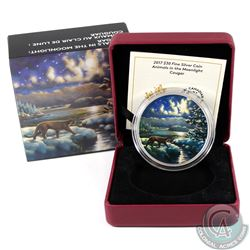 2017 Canada $30 Animals in the Moonlight - Cougar Fine Silver Coin (TAX Exempt)
