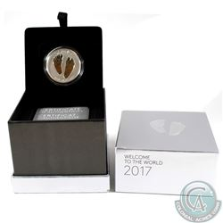 2017 Canada $10 Welcome to the World - Baby Feet Fine Silver Coin (outer box dented in two corners)