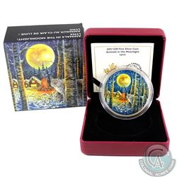 2017 Canada $30 Animals in the Moonlight - Lynx Fine Silver Coin (sleeve lightly bent) Tax Exempt